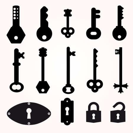 skeleton key: Icon Key, Black Silhouette