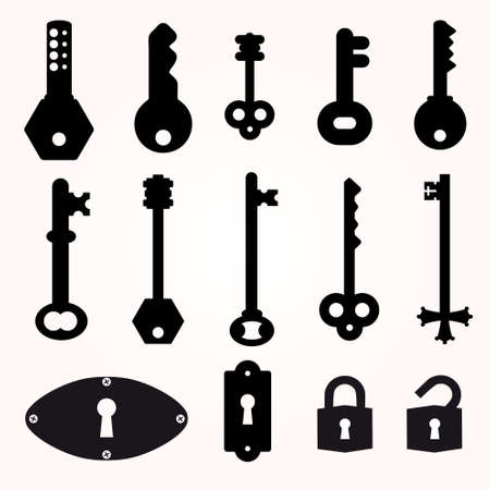 old key: Icon Key, Black Silhouette