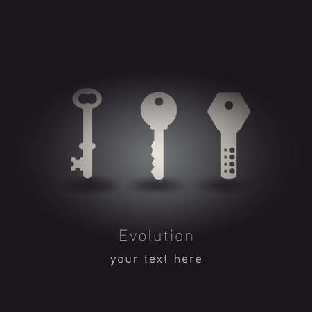 technological evolution: evolution keys Illustration