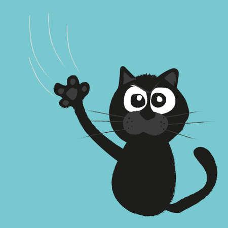 cat paw: cat s claws scratch a background