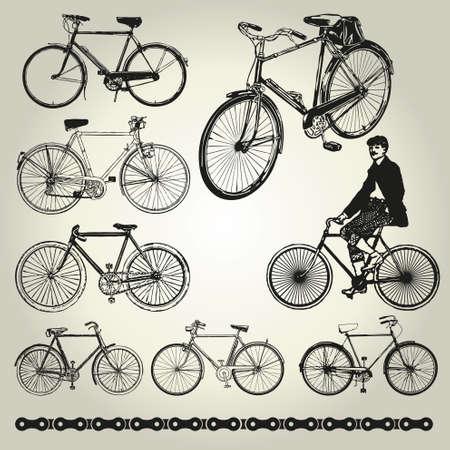 Bicycle retro Vector Vector