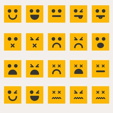 smileys: Set smileys emoticons vector