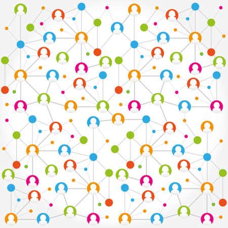 Social network internet chat community communication Ilustração