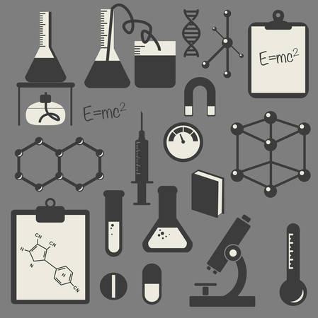 electrons: black science icon set  Illustration
