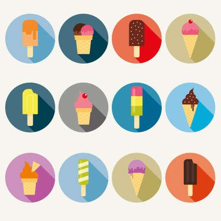 Vector ice cream collection Vector