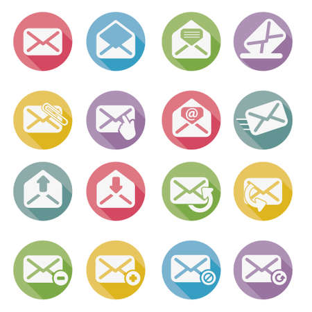 email icon: set of mail icons vector