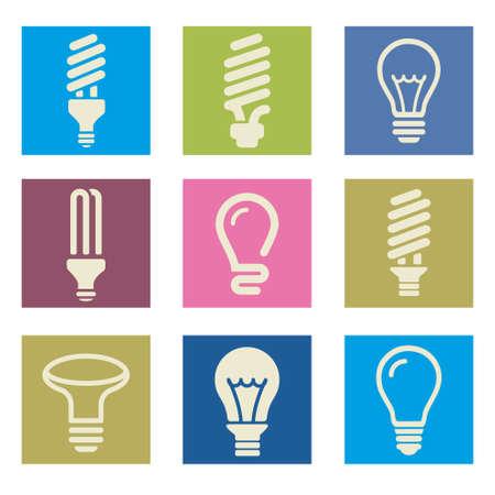 lightbulb icon: Light bulbs. Bulb icon set