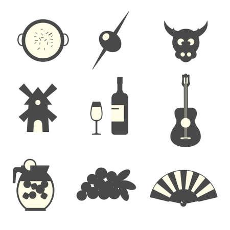 valencia: Spain icons set