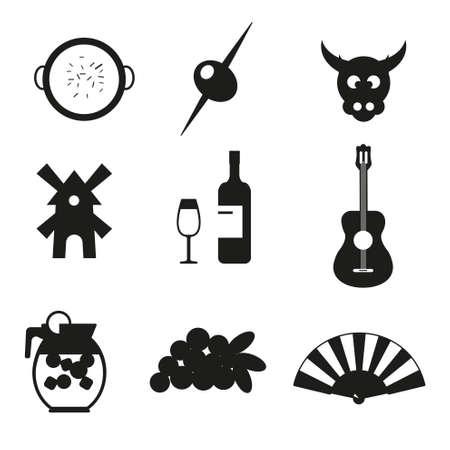 bilbao: Spain icons set