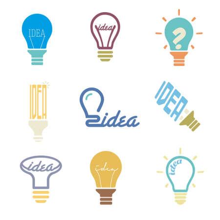 Set icons idea bulb Vector