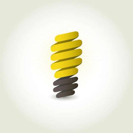 energy efficient: Light bulb icon