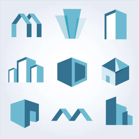 Building Real state icons vector set Vector Illustration