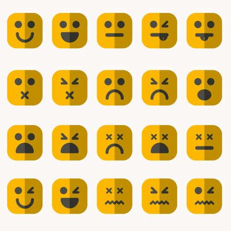 Set van verschillende vector emoticons Stock Illustratie
