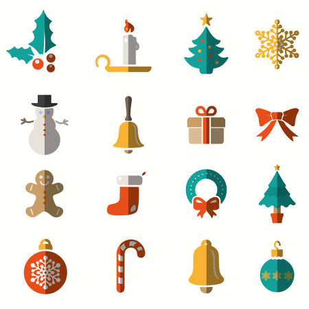 Winter and Christmas icons collection - vector Vector