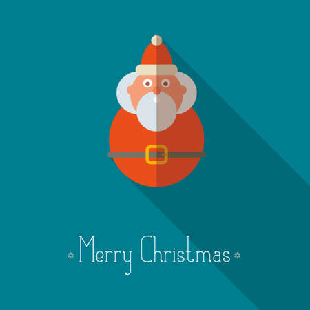 santa s helper: Merry Christmas background with santa claus and place for text