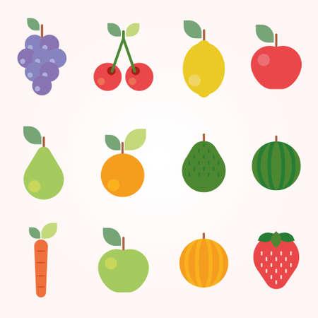 flor de durazno: Frutas y Verduras Iconos