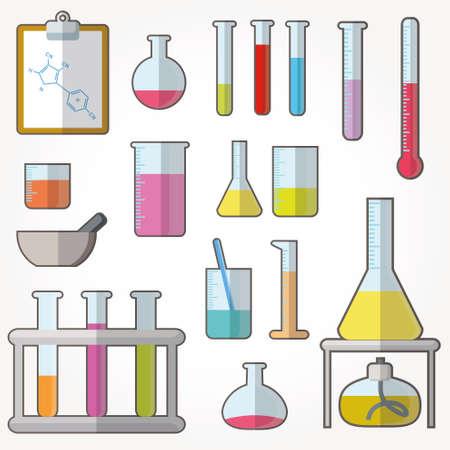 testiculos: Tubos de ensayo químico iconos ilustración vectorial