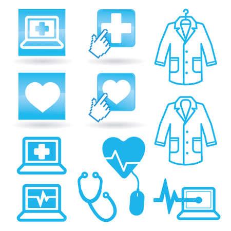 Stel medische pictogrammen web