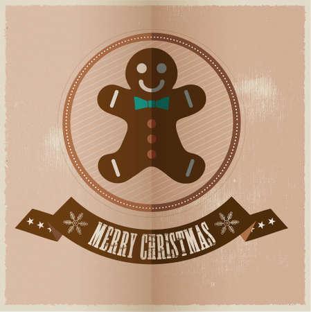 santa s helper: Vector Christmas greeting card Illustration