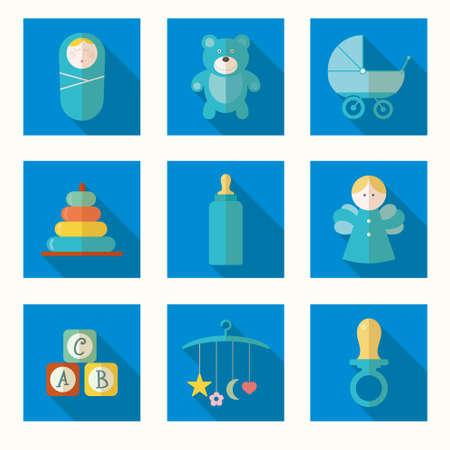 Vektor-Illustration des Babys im September