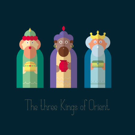 christ the king: The three Kings of Orient wisemen