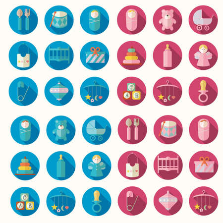 sweet stuff: Vector illustration of babies set