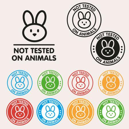 No animals testing sign icon Vector