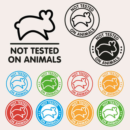 testicles: No animals testing sign icon