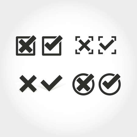 testicles: Check mark icon Illustration