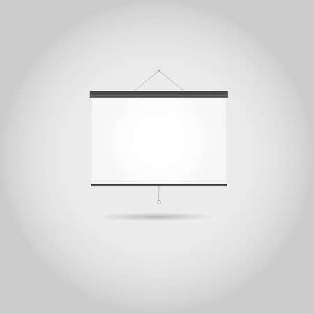 projection screen: Pantalla de proyecci�n en blanco con espacio de copia