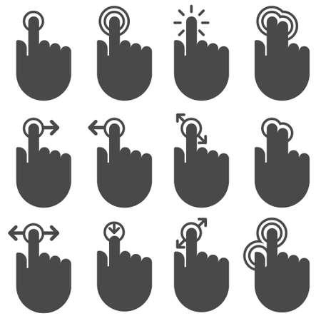 toque: �cones sens�veis ao toque Ilustra��o