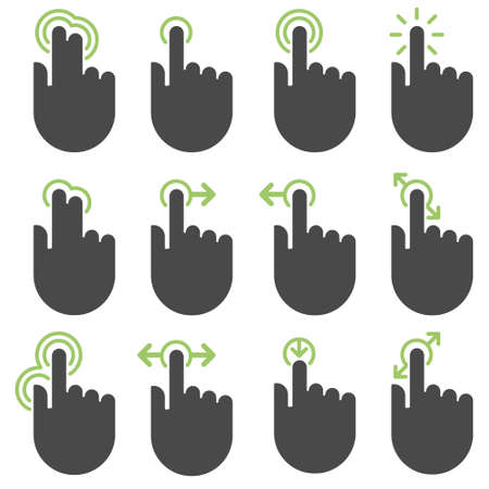hand touch: Touch icons Illustration
