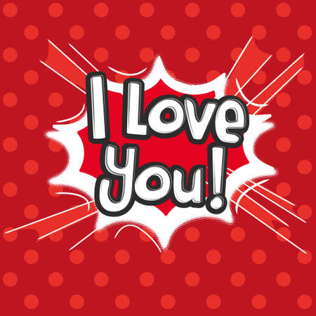love dynamite: Love, Comic Speech Bubble. Vector illustration