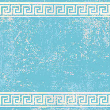 meander: antique wall with greek ornament meander.vector background
