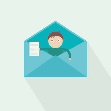 dai: you have got mail. new massage. vector Illustration