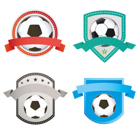 premier league: Set of soccer football emblem and icon designs