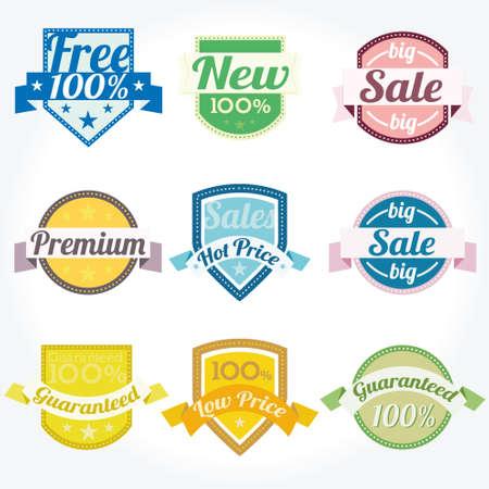out of engagement: Sales New Premium Quality Labels vector set Illustration