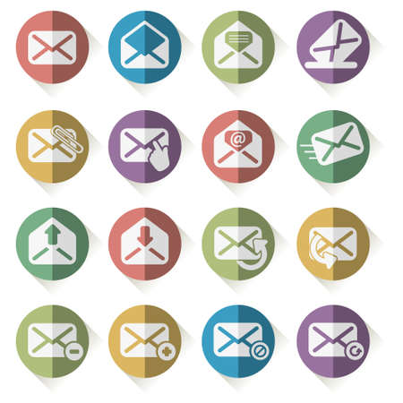 unread: set of vector icons mail Illustration