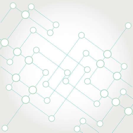 Network color technology communication background Ilustração