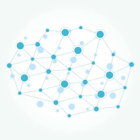 Network communication technology colored background Vector