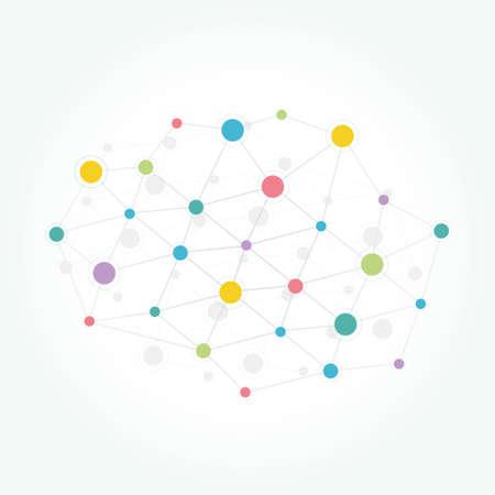 Network communication technology colored background Illustration