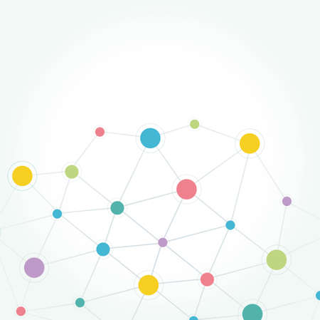 Network communication technology colored background Ilustração