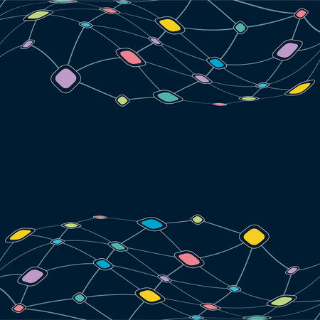 tailed: Color Network technology background Illustration