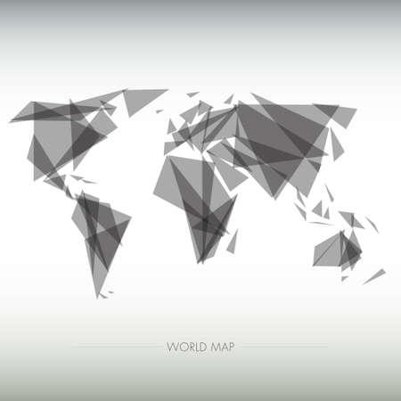 tea towel: geometric map of the world Editorial