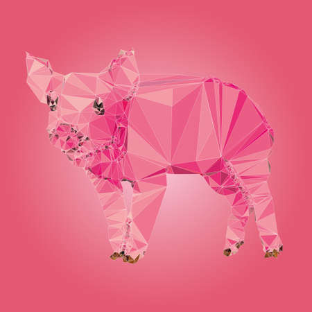 gal: Isolated Pig made triangles Vector