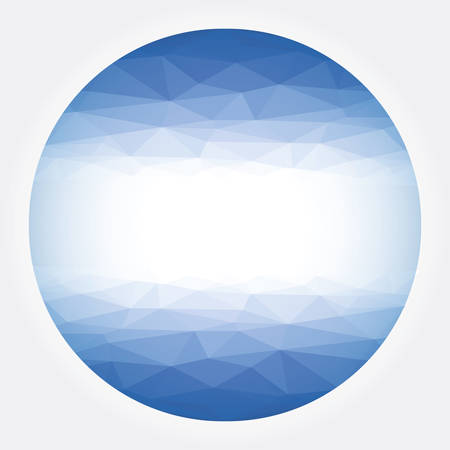 tailed: Low poly circle blue abstract Illustration