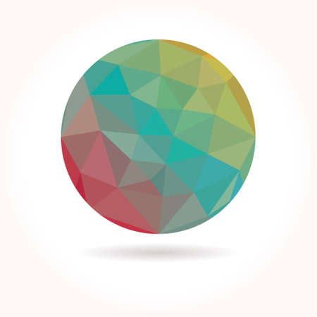 tailed: Low poly circle Illustration