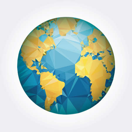 Earth World Map. Low Poly Vector Illustration Royalty Free Cliparts ...