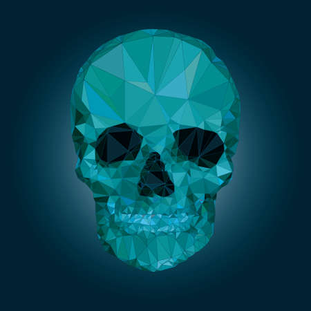 death s head: Low poly crystal skull vector