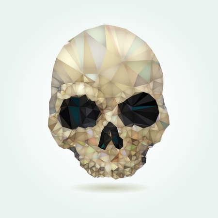 Cráneo bajo vector poli Foto de archivo - 38670863